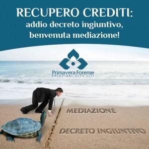 Recupero Crediti: addio decreto ingiuntivo, benvenuta mediazione!