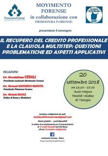 Il recupero crediti degli onorari legali: la clausola multistep