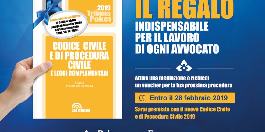 Codice Civile e di Procedura Civile 2019 in regalo