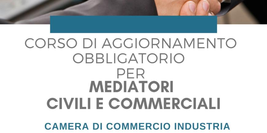 Corso di aggiornamento per mediatori civili e commerciali (D.M. 180/2010)